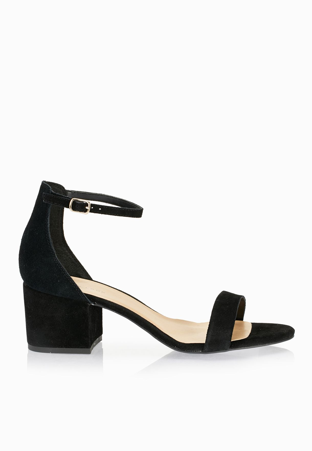 5cf5f097cda Shop New Look black Ticket Ankle Strap Block Heel Sandals 381508101 ...