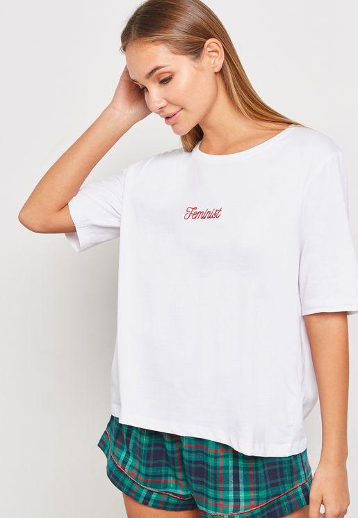 Slogan Boxy T-Shirt