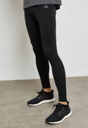 guirnalda pensión Puntualidad  Buy adidas black Response Long Tights for Men in MENA, Worldwide | B47717