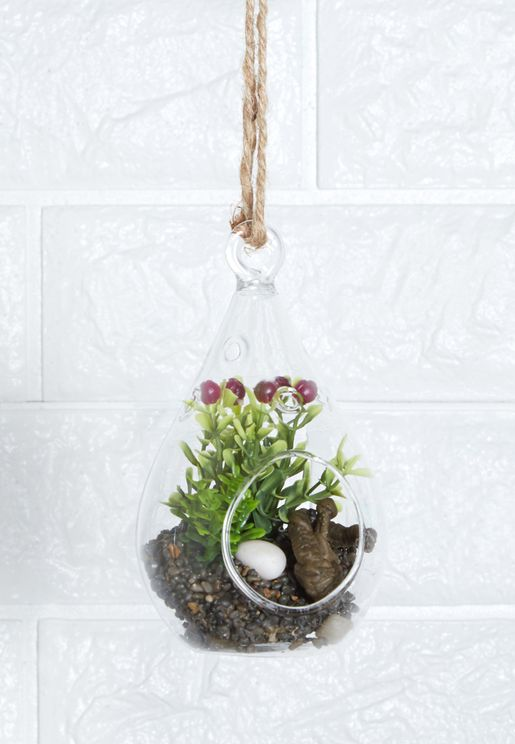 Glass Teardrop Planter