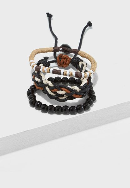 Multipack Bead And Layed Bracelets