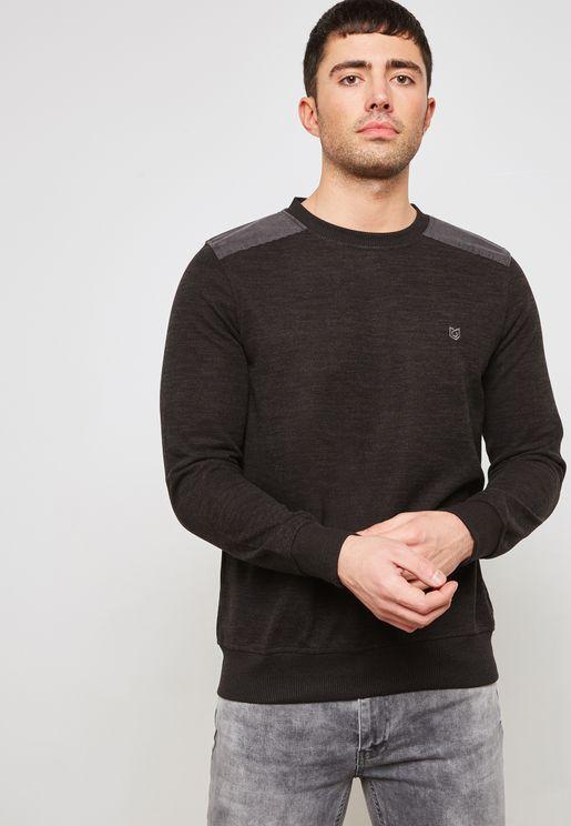 Shoulder Patch Sweatshirt