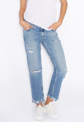 MANGO Ankle Ripped Jeans