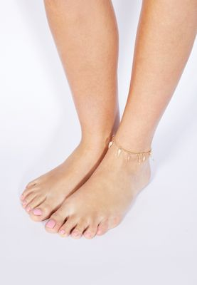 Ginger Feather Anklet