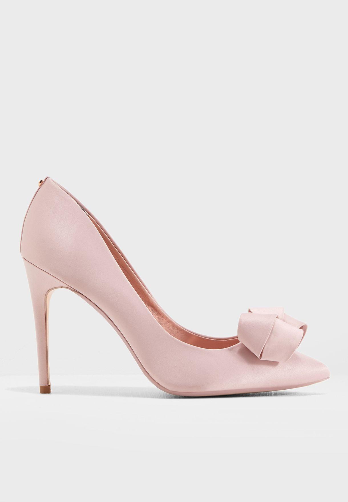 157ecc3486 Shop Ted baker pink Skalett Bow Pump 917272 for Women in UAE ...