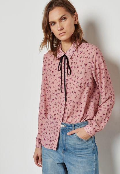 Printed Tie Neck Shirt