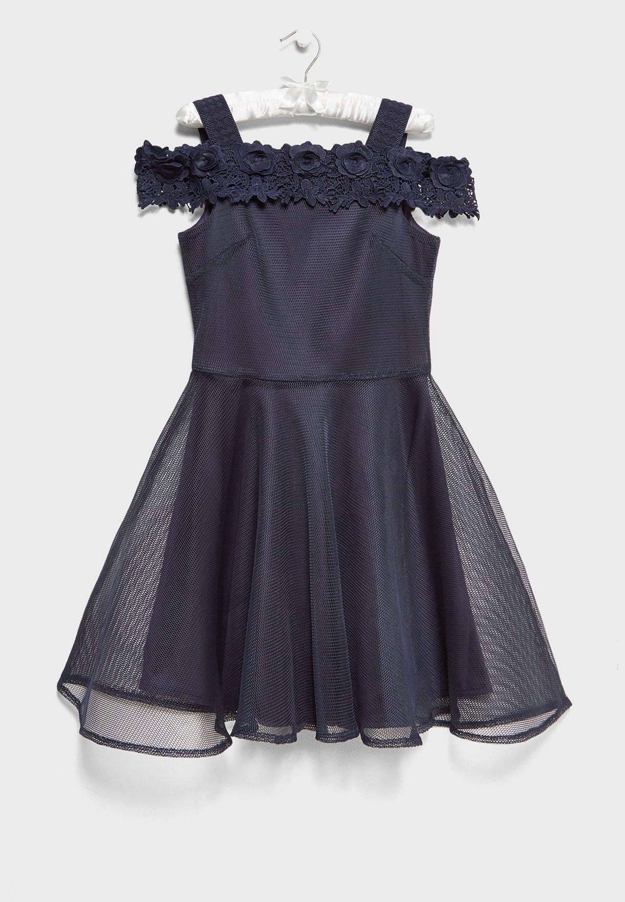 603475c5d Shop David Charles navy Floral Bandeau Dress 9132A for Kids in UAE ...