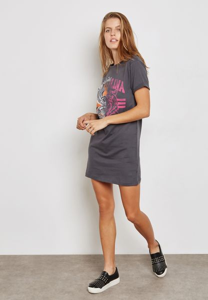 Ginger. Printed T-Shirt Dress