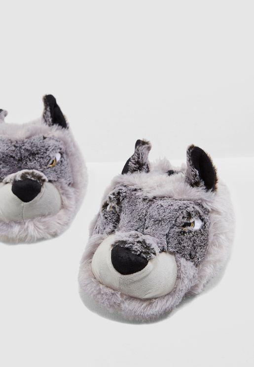 Wolf Slipper