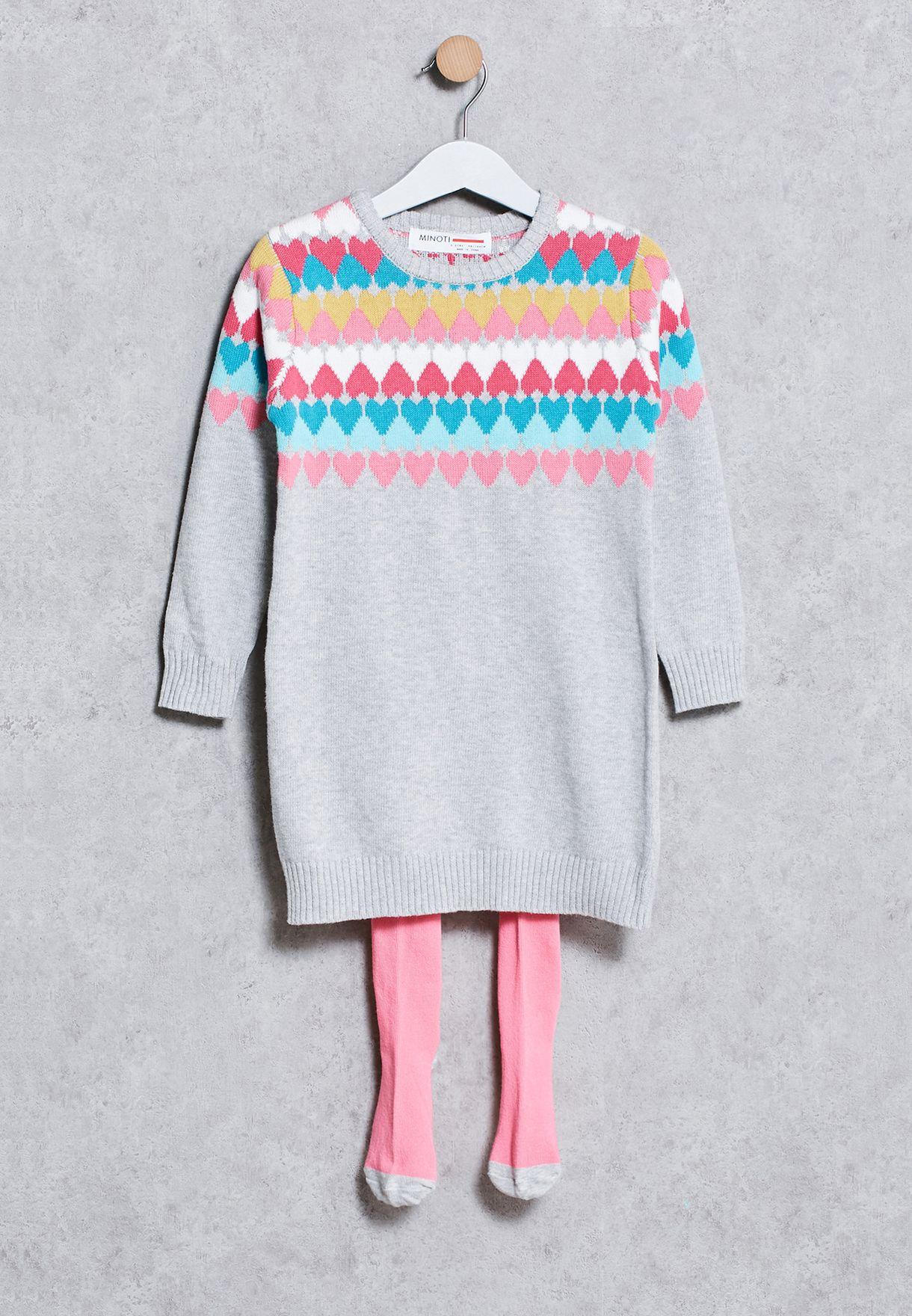 1 to 4 years Minoti Boys Stripe Cotton Knit Jumper