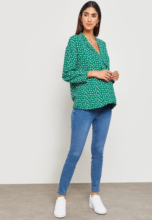 Maternity Blue Over Bump Jeggings