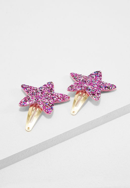Little Glitter Star Clips