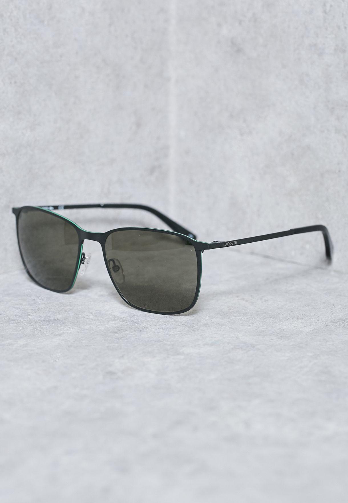 20d6dff66 تسوق نظارة شمسية مربعة ماركة لاكوست لون أسود في قطر - LA014AC35AFW