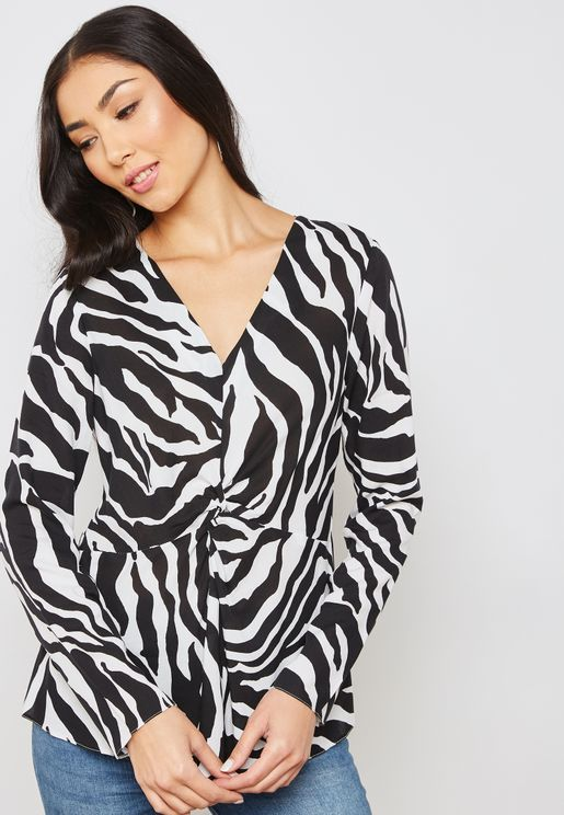 Monochrome Printed Top