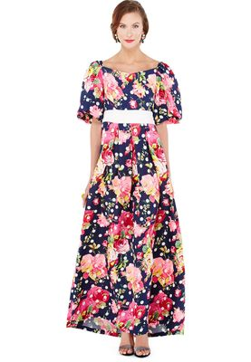 Anaya Printed Puff Sleeve Dress