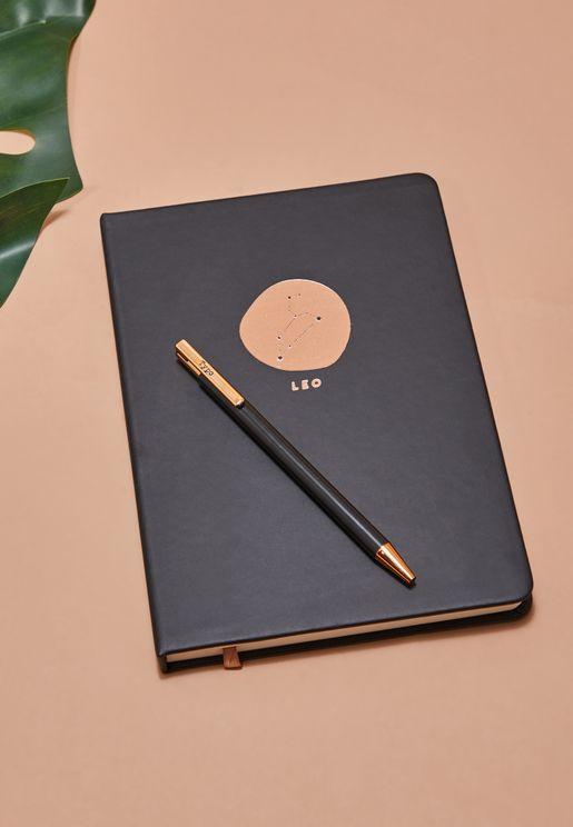 مجموعة دفتر ملاحظات برج الاسد مع قلم