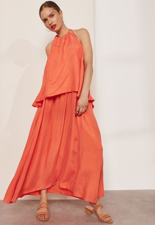 Overlay Bead Detail Dress