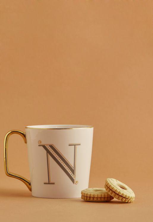 N Initial Mug