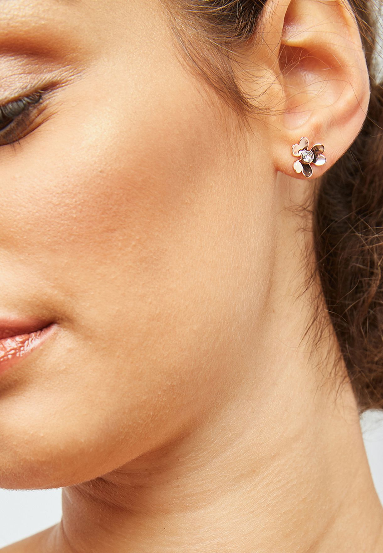 f87e8a76f Shop Ted baker gold Hansila Heart Blossom Stud Earrings TBJ1862-24 ...