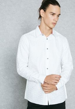 Jacquard Dot Print Shirt