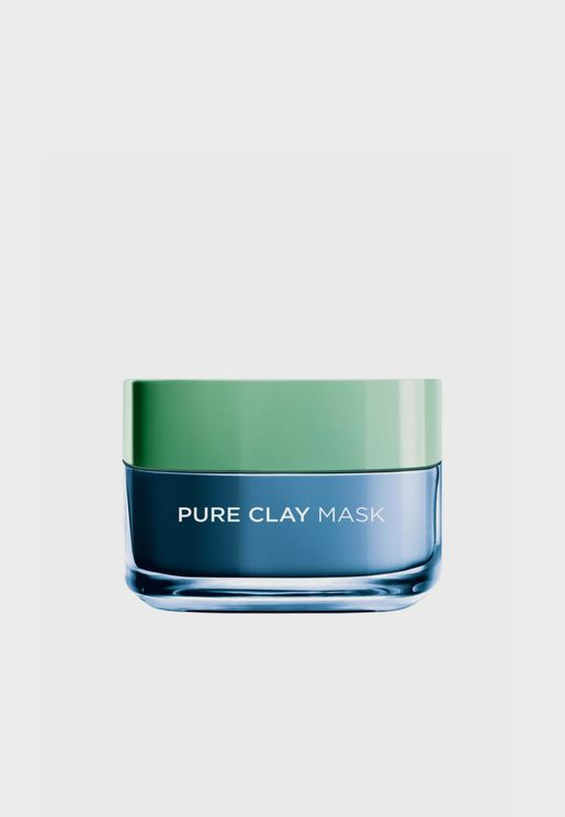 Pure Clay Blue Mask With Marine Algae, Clears Blackheads And Shrink Pores, 50 Ml