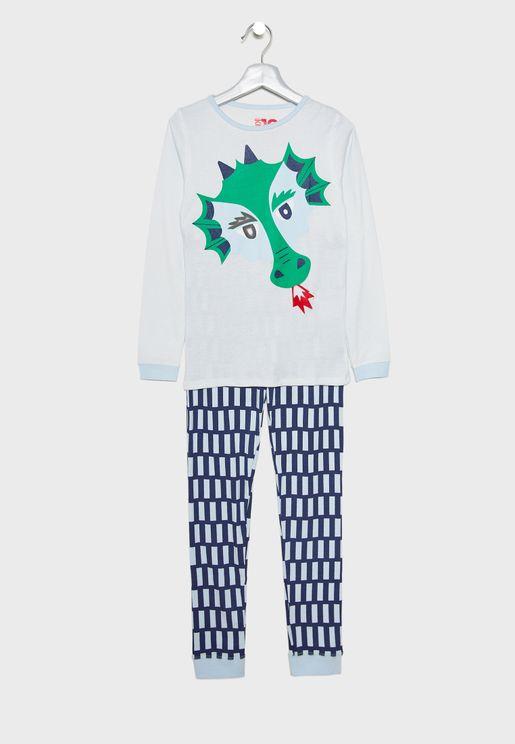 Kids Dragon Pyjama Set
