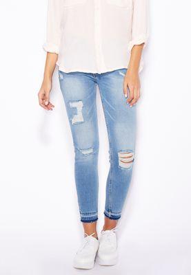 MANGO Crop Skinny Jeans