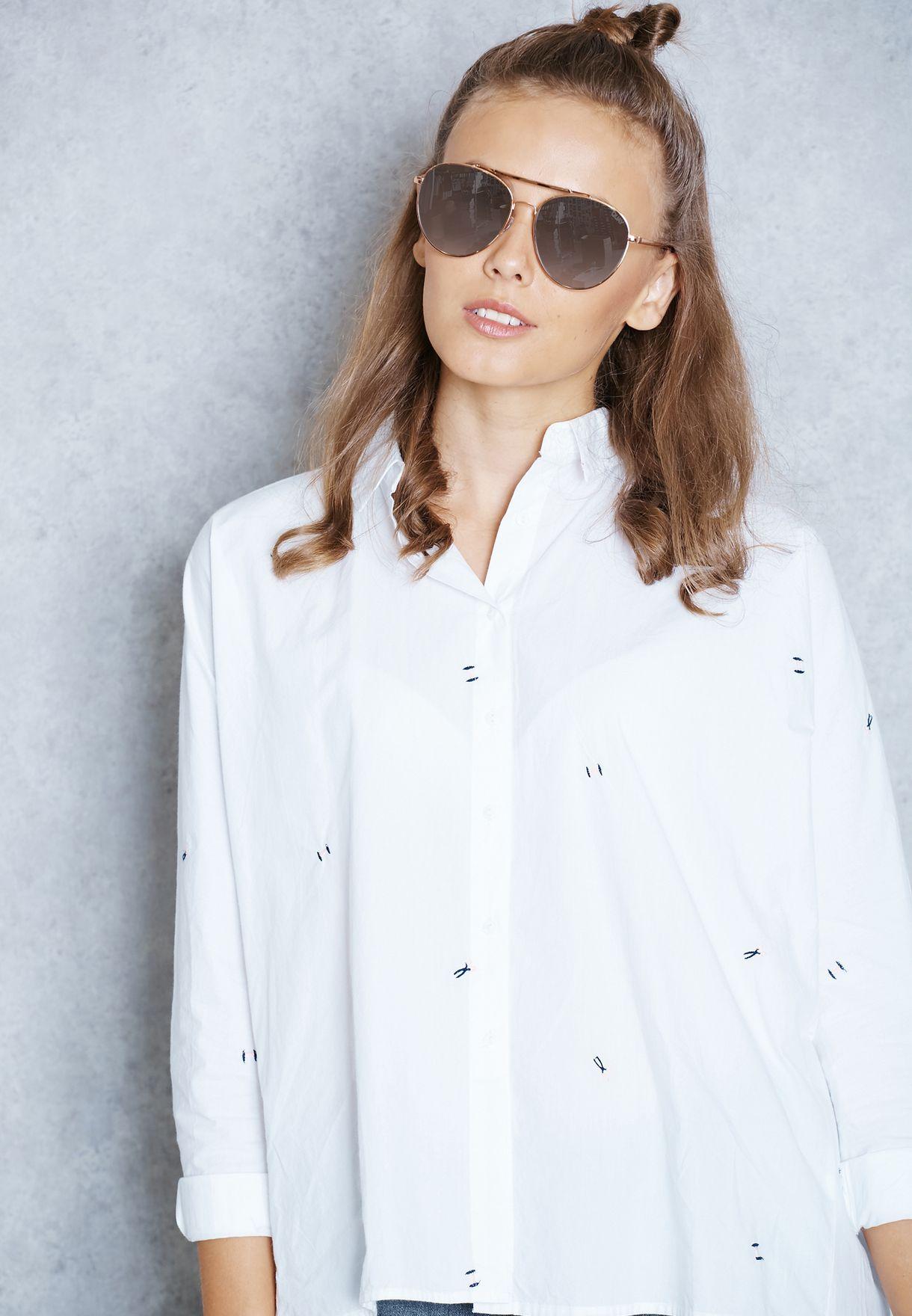 نظارة شمسية بجسرين