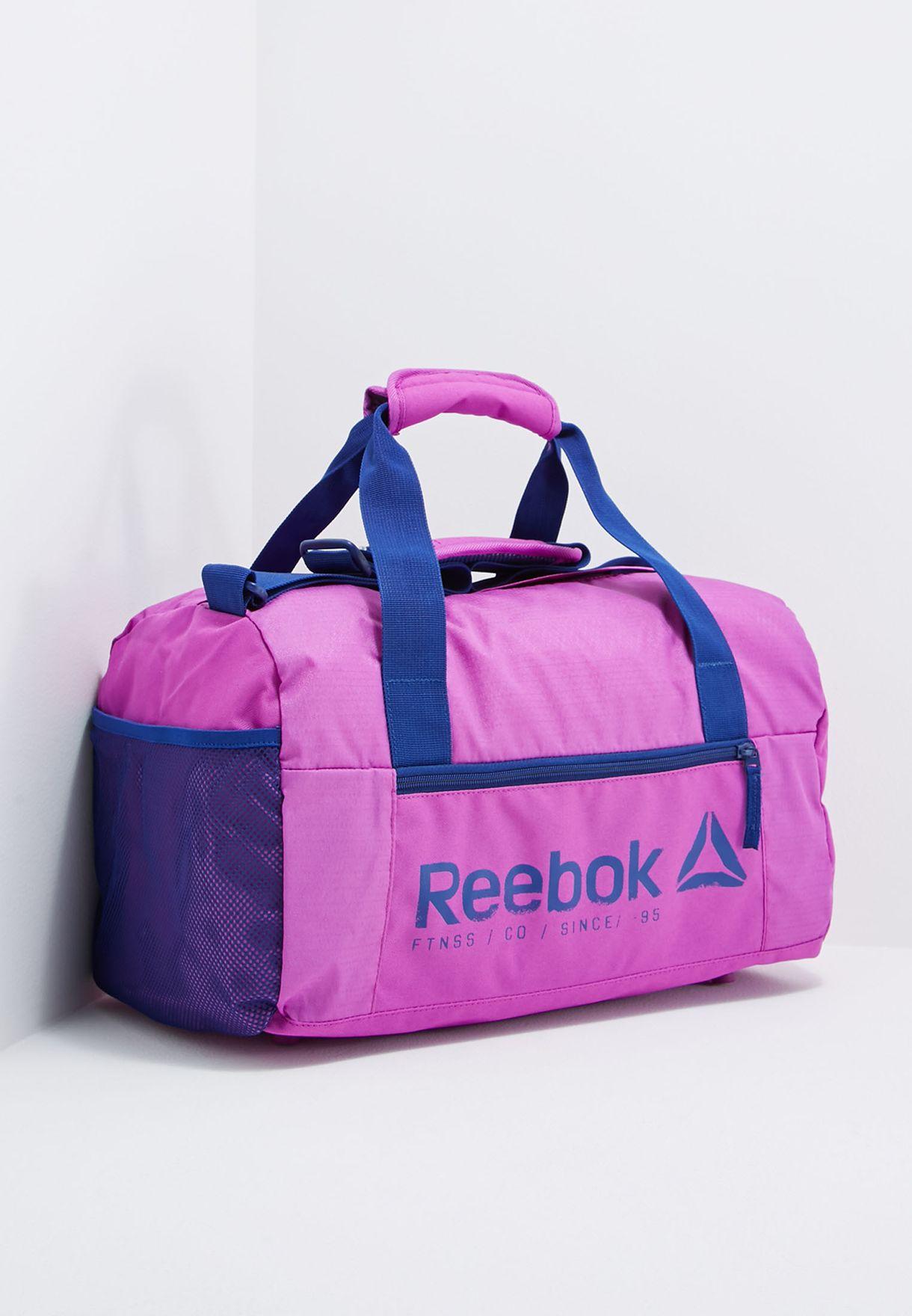 Shop Reebok purple Small Found Grip Duffle Bag BP7079 for Women in ... a5f4da3b4e2e5