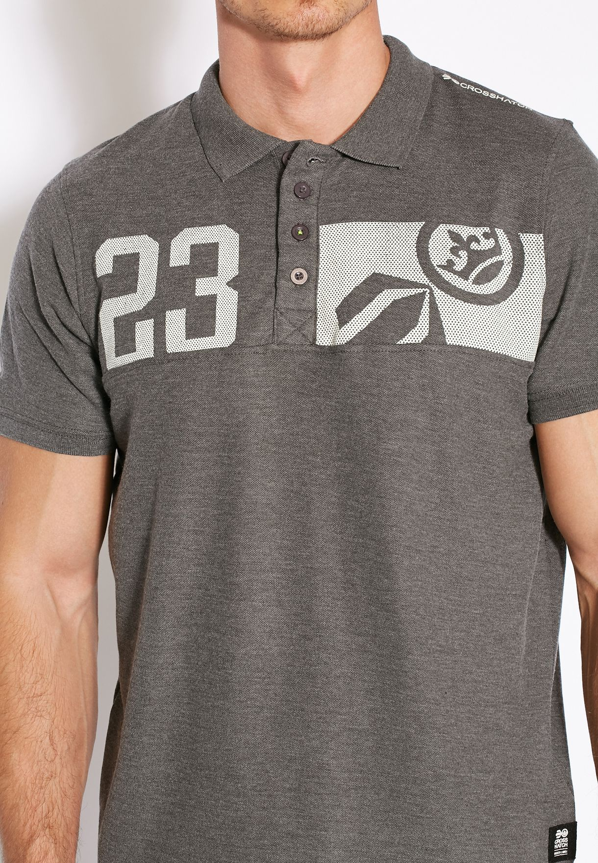 Mens Polo Shirt by Crosshatch /'Matrix Two/' Short Sleeved