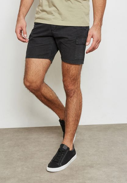 Slim Fit Ripstop Shorts
