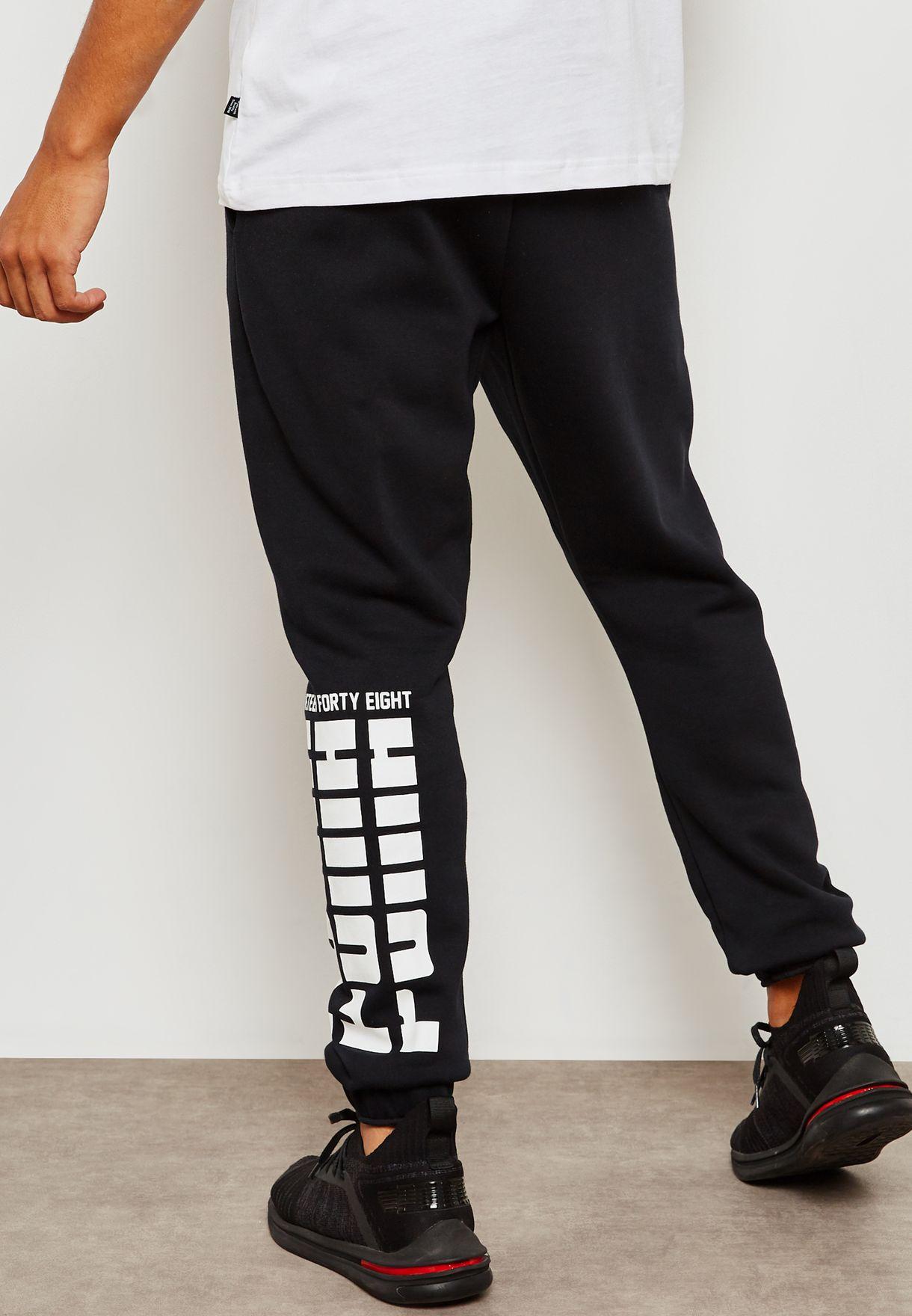 3e0903cdebfb Shop PUMA black Rebel Bold Sweatpants 85240901 for Men in UAE ...