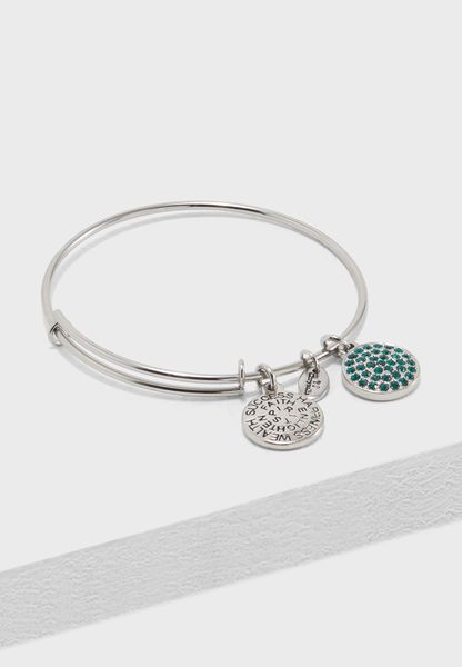 Good Fortune May Emerald Crystal Bracelet