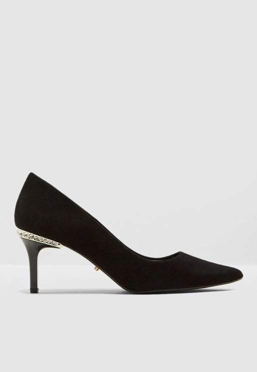 Bellowes Diamante Mid Heel Sandals