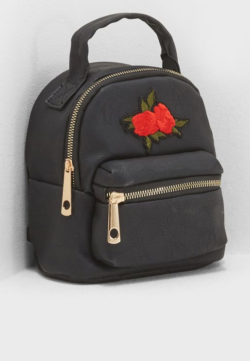 Front Pocket Rose Backpack