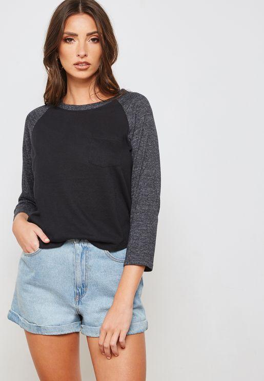 Burnout Raglan T-Shirt