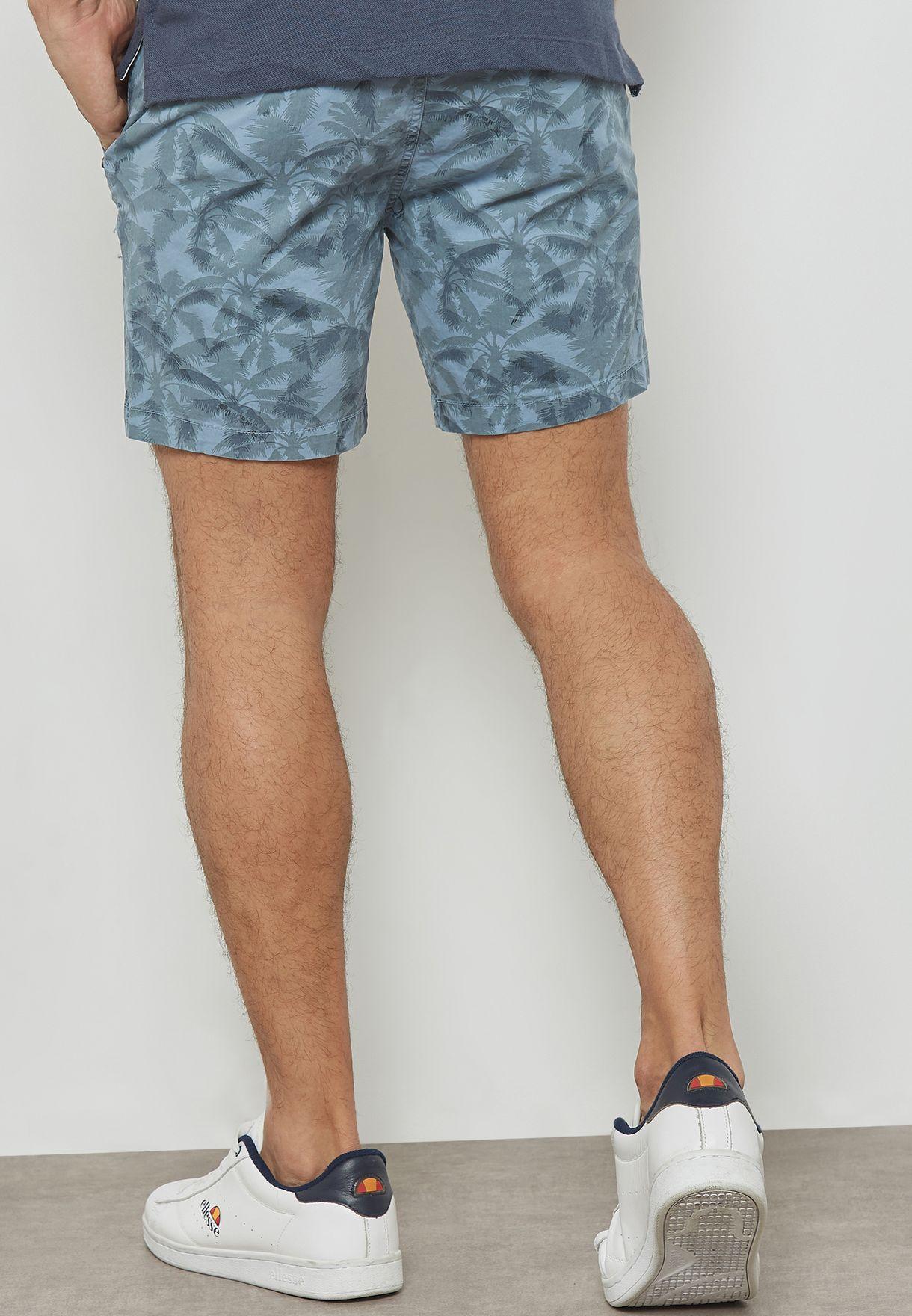 Aop Denim Shorts