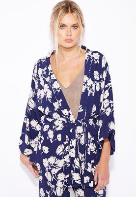 MANGO Floral Print Jacket