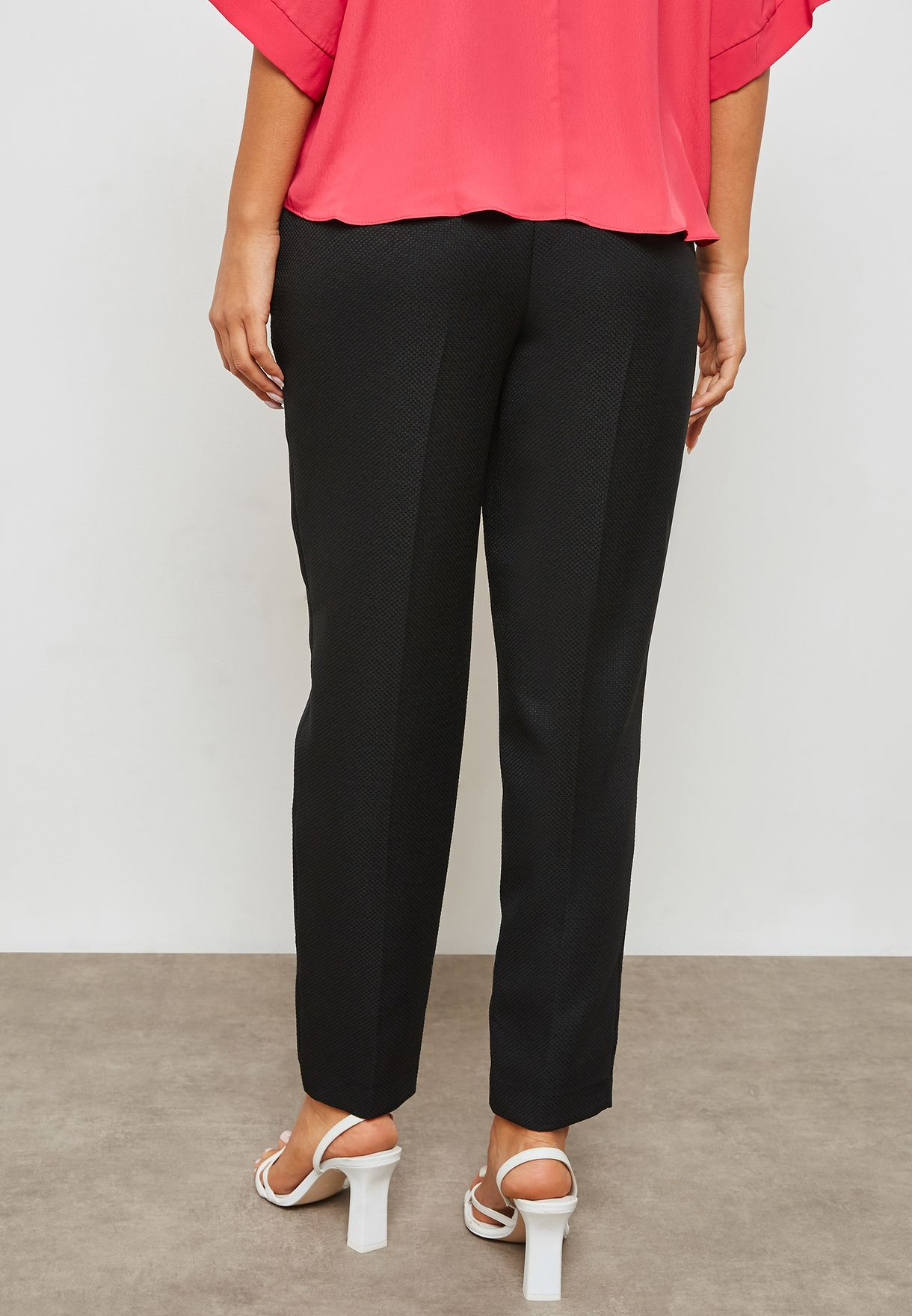 Textured Ankle Grazer Pants