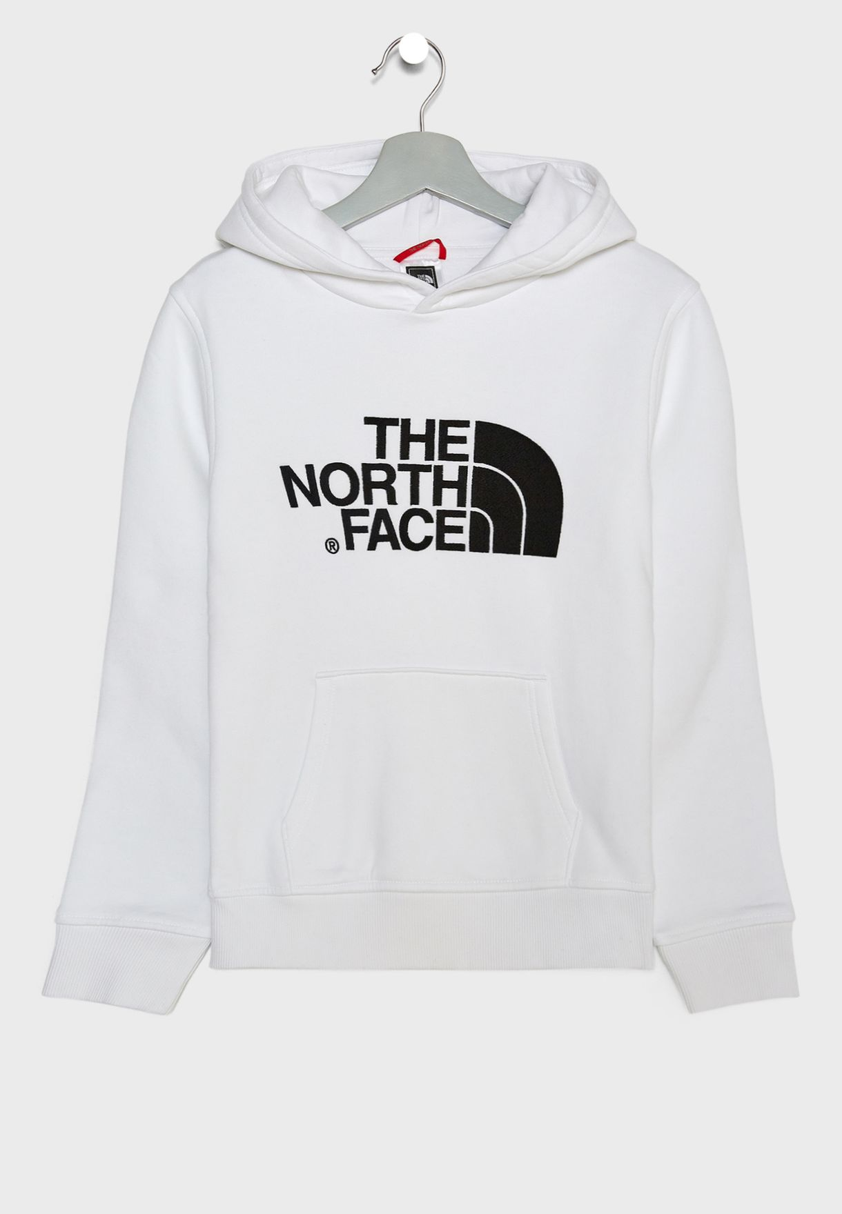 183f4829bc57 Shop The North Face white Youth Drew Peak Hoodie T933H4-TLB for Kids ...