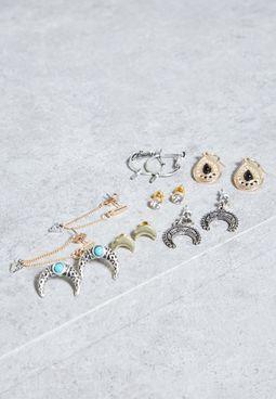 7 Pack Stud Earrings