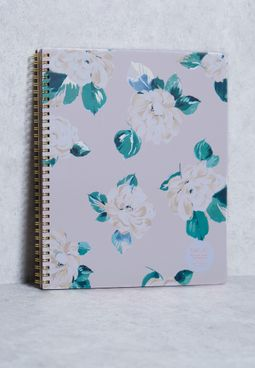 Large Floral Notebook