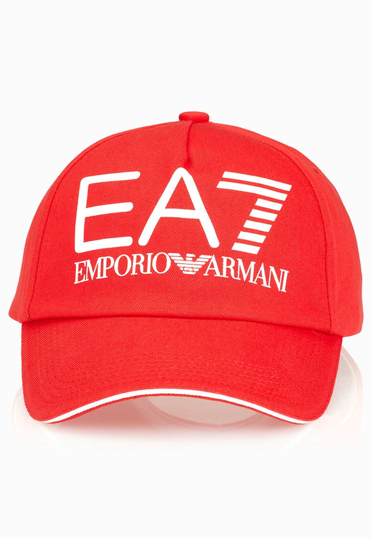 a3dfc6cd Shop Ea7 Emporio Armani red Classic Calcetto Cap 5P297-275475 for ...