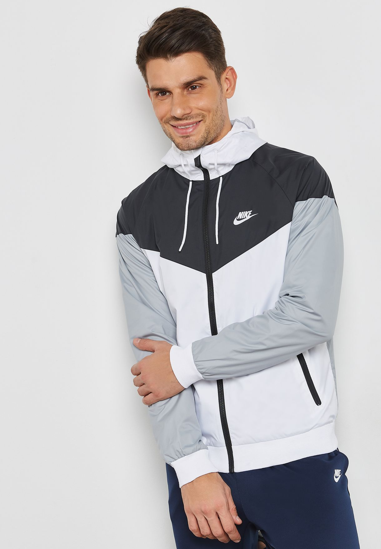 bc66056f14 Shop Nike multicolor NSW Windrunner Jacket 727324-101 for Men in ...