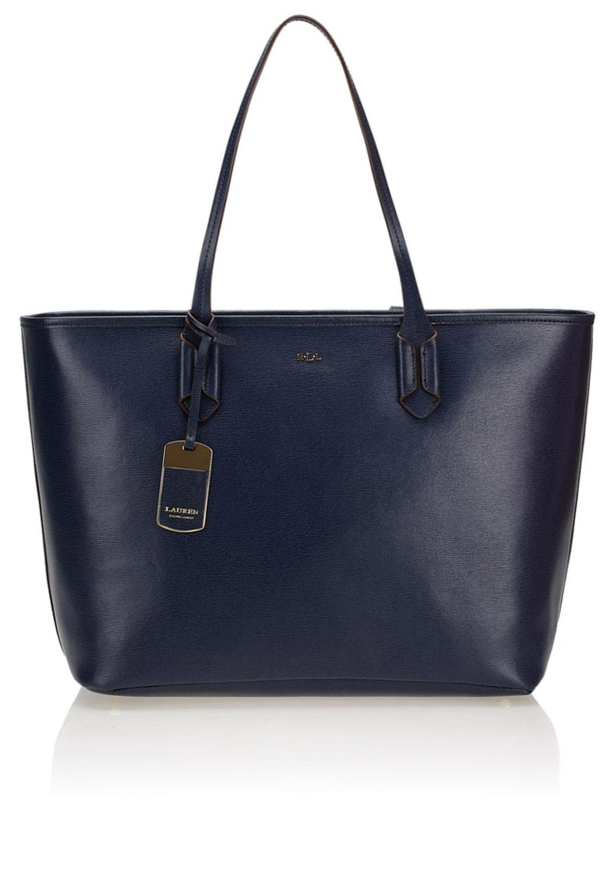 Shop Lauren Ralph Lauren blue Tate Tote 431186102Q65 for Women in ... a7a8b3e400