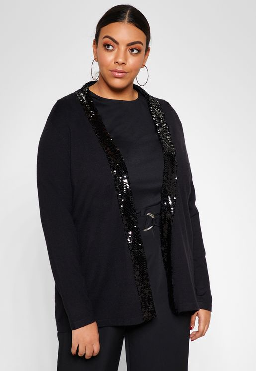 Sequin Trim Cardigan