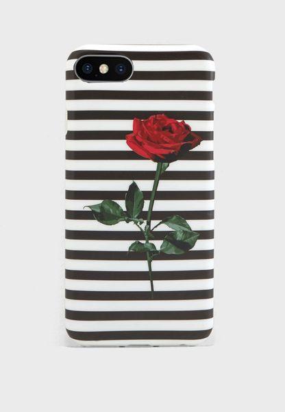 Striped Rose 7/8 iPhone Case