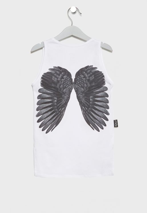 Little Wings Print Tank Top