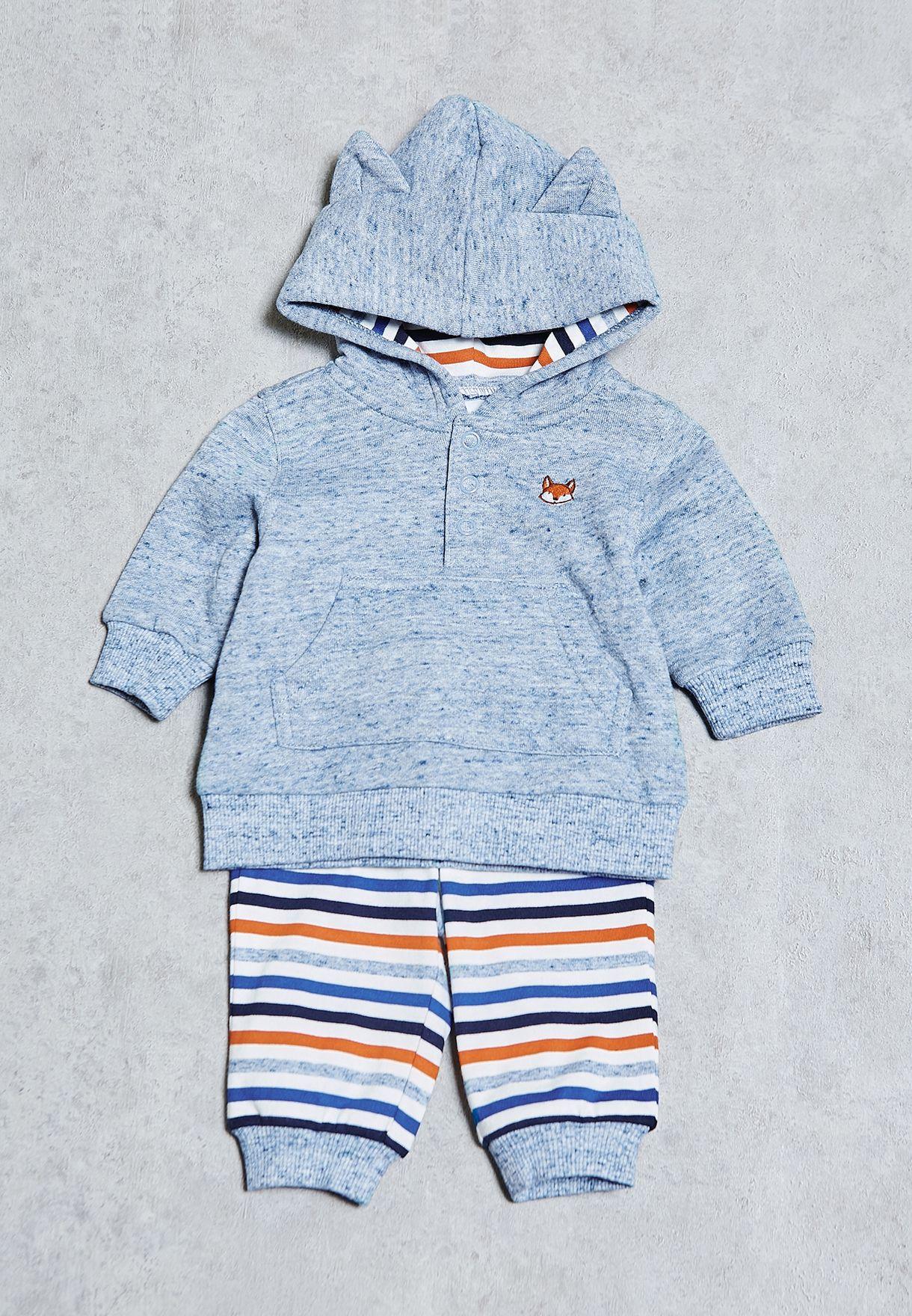90a8651ba Shop Gymboree blue Infant Fox 2-Piece Set 140158168 for Kids in ...