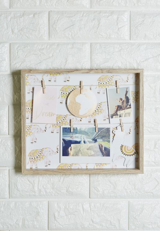Elephant Print Peg Board